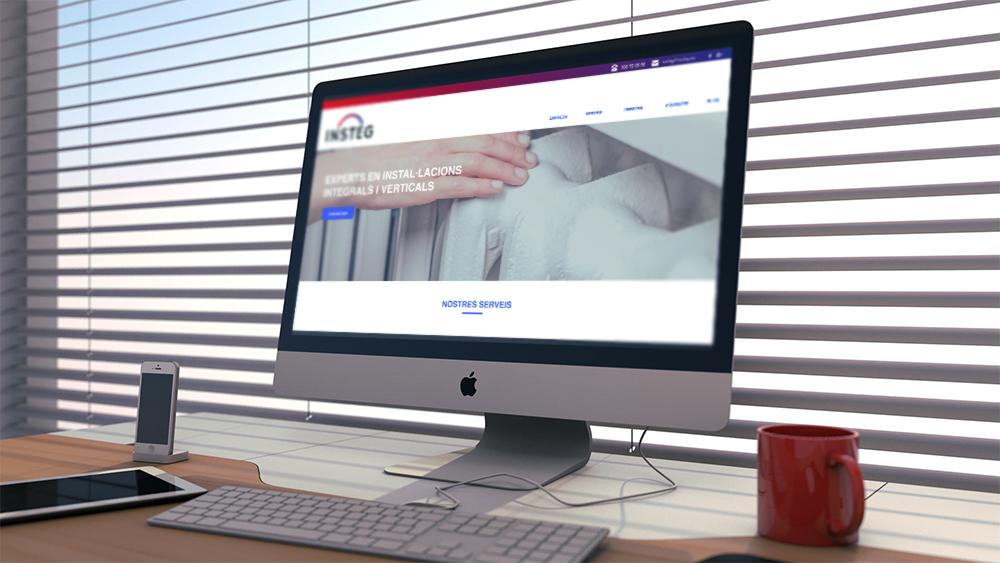 web diseño identidad corporativa insteg instalaciones integrales